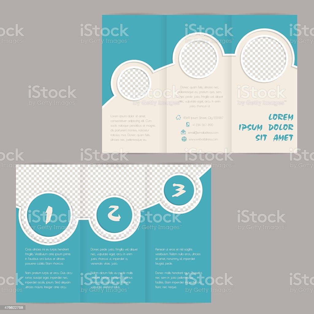 Cool Ring Design Trifold Brochure Template Stock Vector Art - Tri brochure template