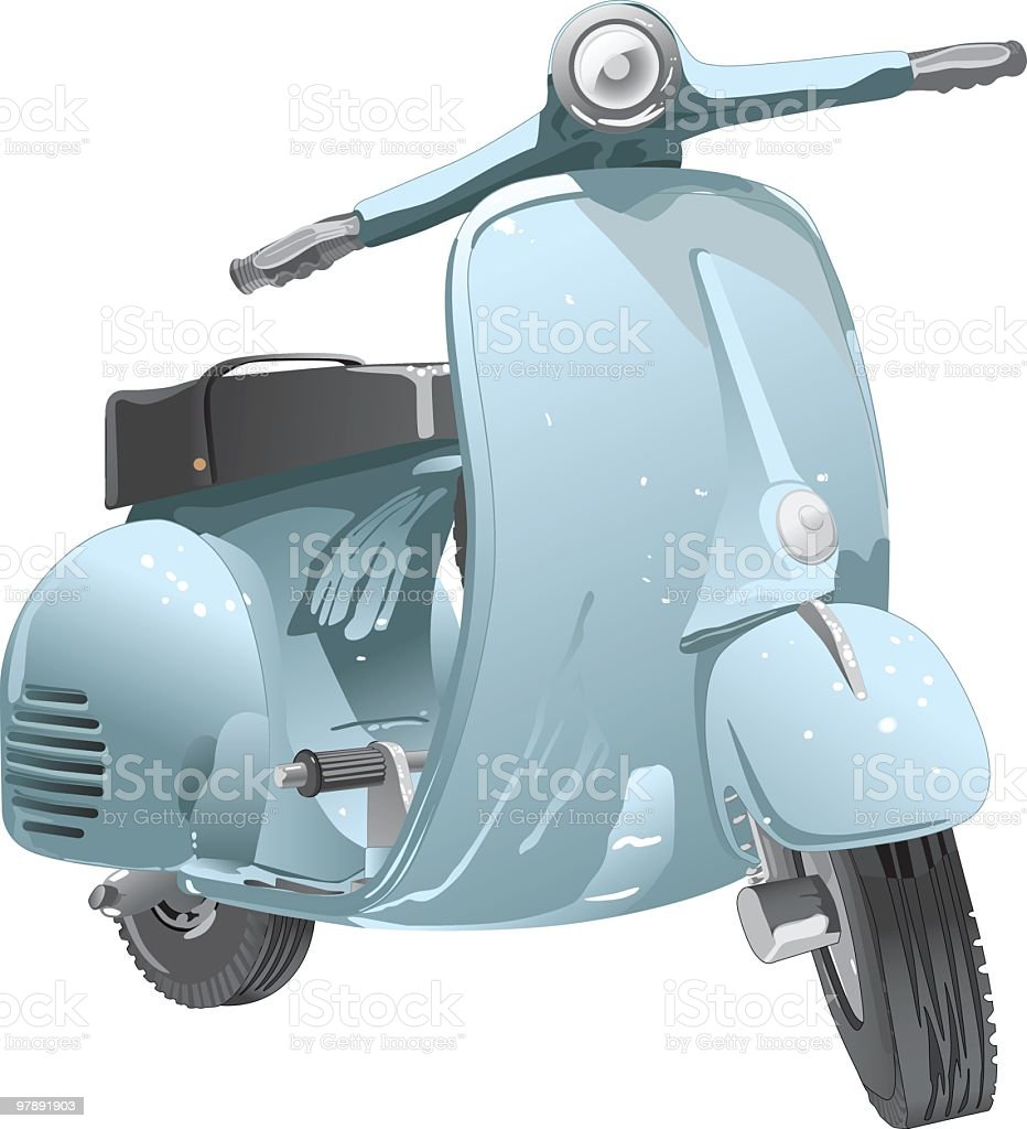 Cool Scooter royalty-free cool scooter stock vector art & more images of 1980-1989