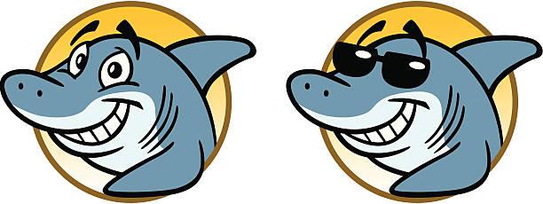 Cool Shark vector art illustration