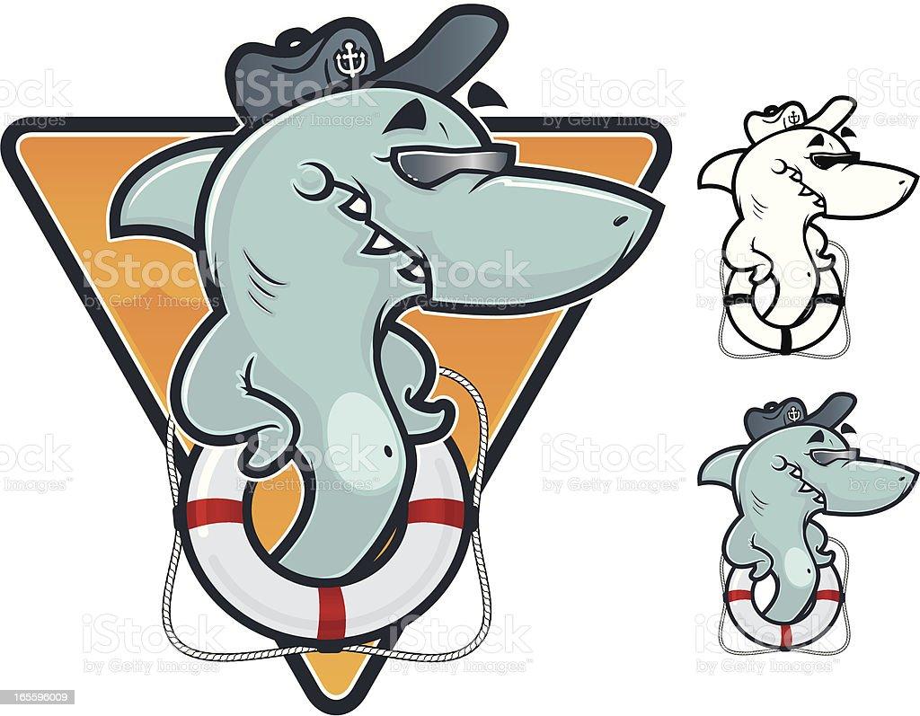Cool Shark Ilustração vetorial ilustração de cool shark ilustração vetorial e mais banco de imagens de animal royalty-free