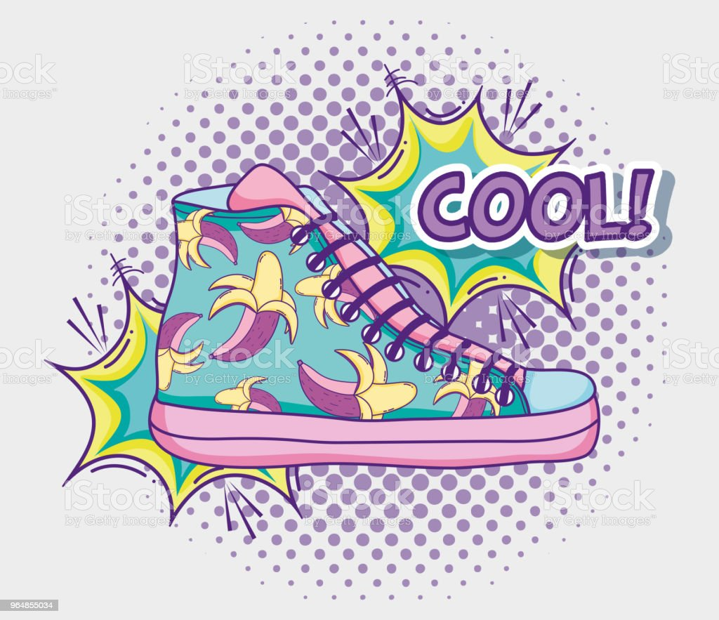 Cool shoe pop art royalty-free cool shoe pop art stock vector art & more images of art