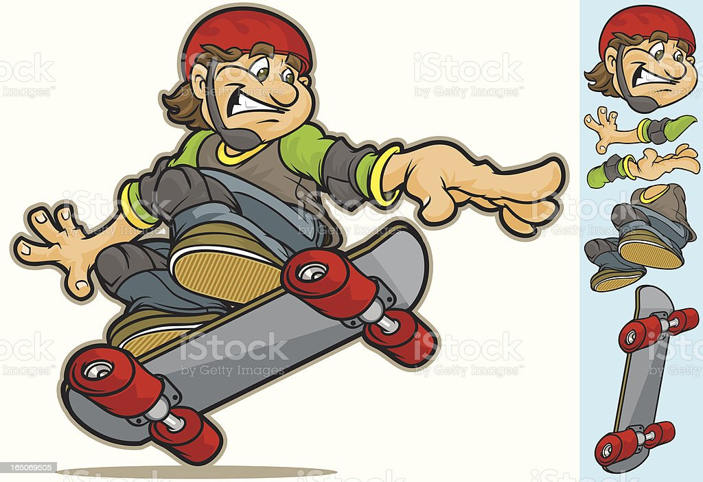Cool SkateBoarder royalty-free stock vector art
