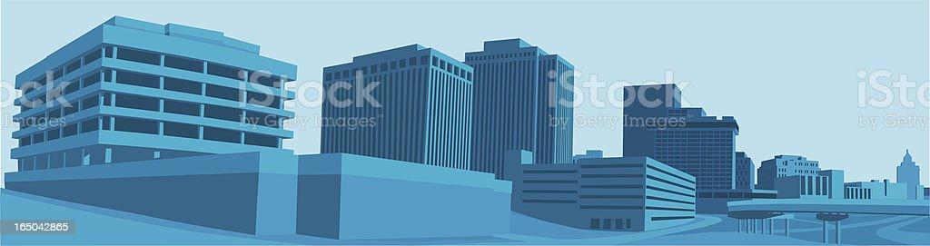 Cool Skyline vector art illustration