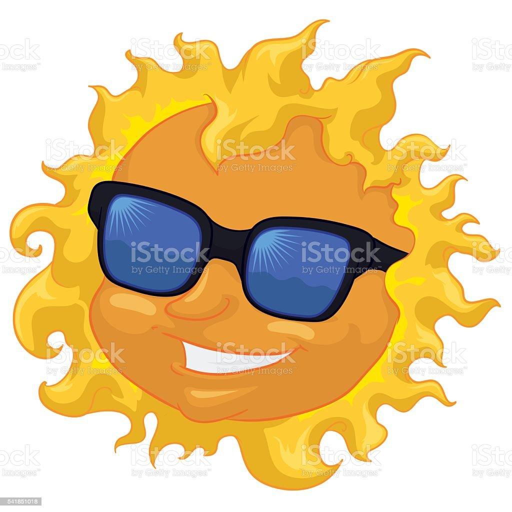 57050c8edef0 Модные солнце с Солнцезащитные очки изолированные Модные солнце с  Солнцезащитные очки изолированные — стоковая векторная графика