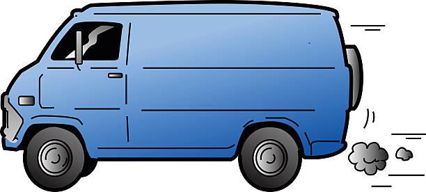Cool Van vector art illustration