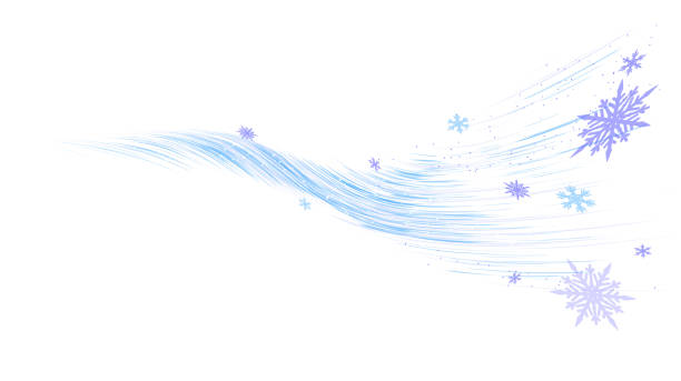 cool wind cool wind snow flakes winter background wind stock illustrations