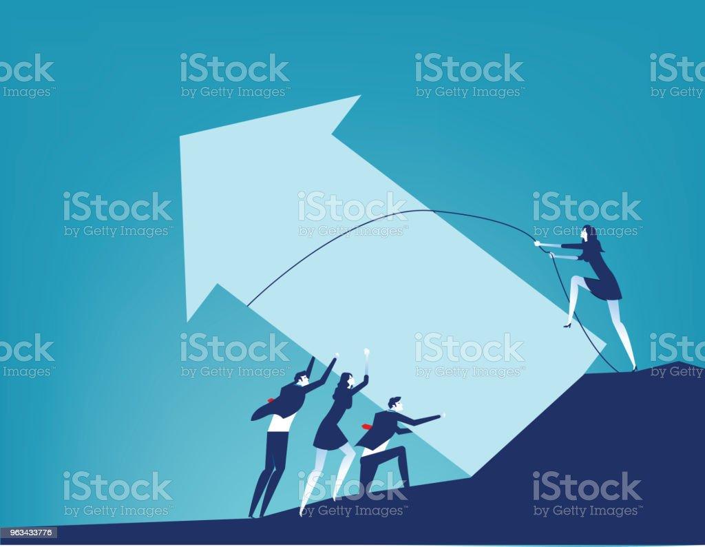 Coopération et affaires travail d'équipe. Concept entreprise aide illustration vectorielle. - clipart vectoriel de Abstrait libre de droits