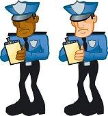 Cop Writing Ticket