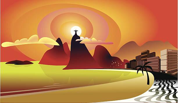 ilustrações de stock, clip art, desenhos animados e ícones de copacabana-rio de janeiro - rio de janeiro