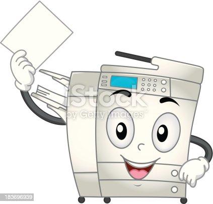 Copier Machine Mascot ...