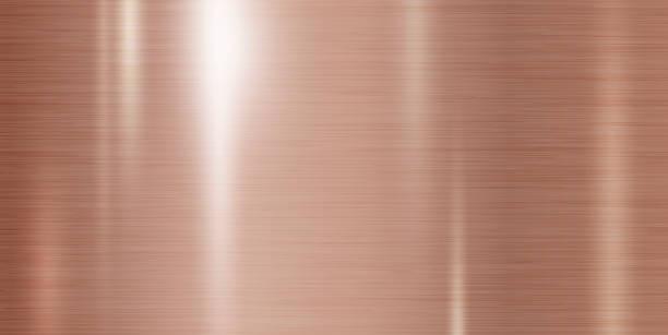 Kupfermetall-Textur-Hintergrundvektor-Illustration – Vektorgrafik