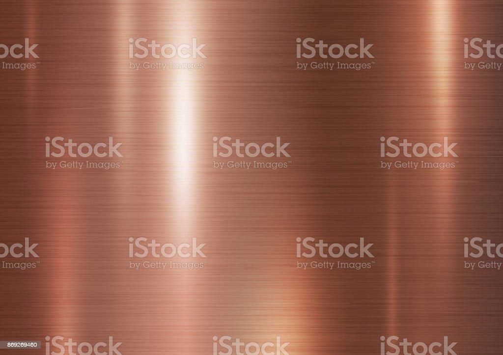 Kupfer-Metall Textur-Hintergrund-Vektor-illustration – Vektorgrafik