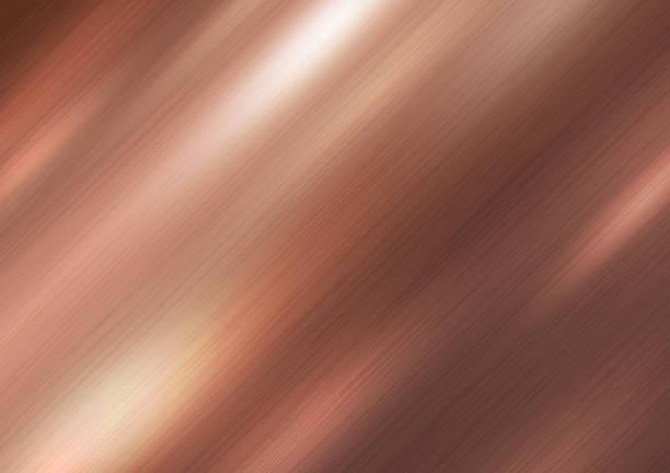 kupfer-metall textur-hintergrund-vektor-illustration - kupfer stock-grafiken, -clipart, -cartoons und -symbole