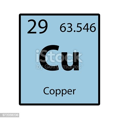 Copper periodic table element color icon on white background vector copper periodic table element color icon on white background vector stock vector art more images of atom 972058206 istock urtaz Image collections