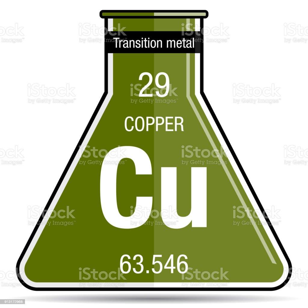Copper symbol on chemical flask element number 29 of the periodic copper symbol on chemical flask element number 29 of the periodic table of the elements urtaz Choice Image