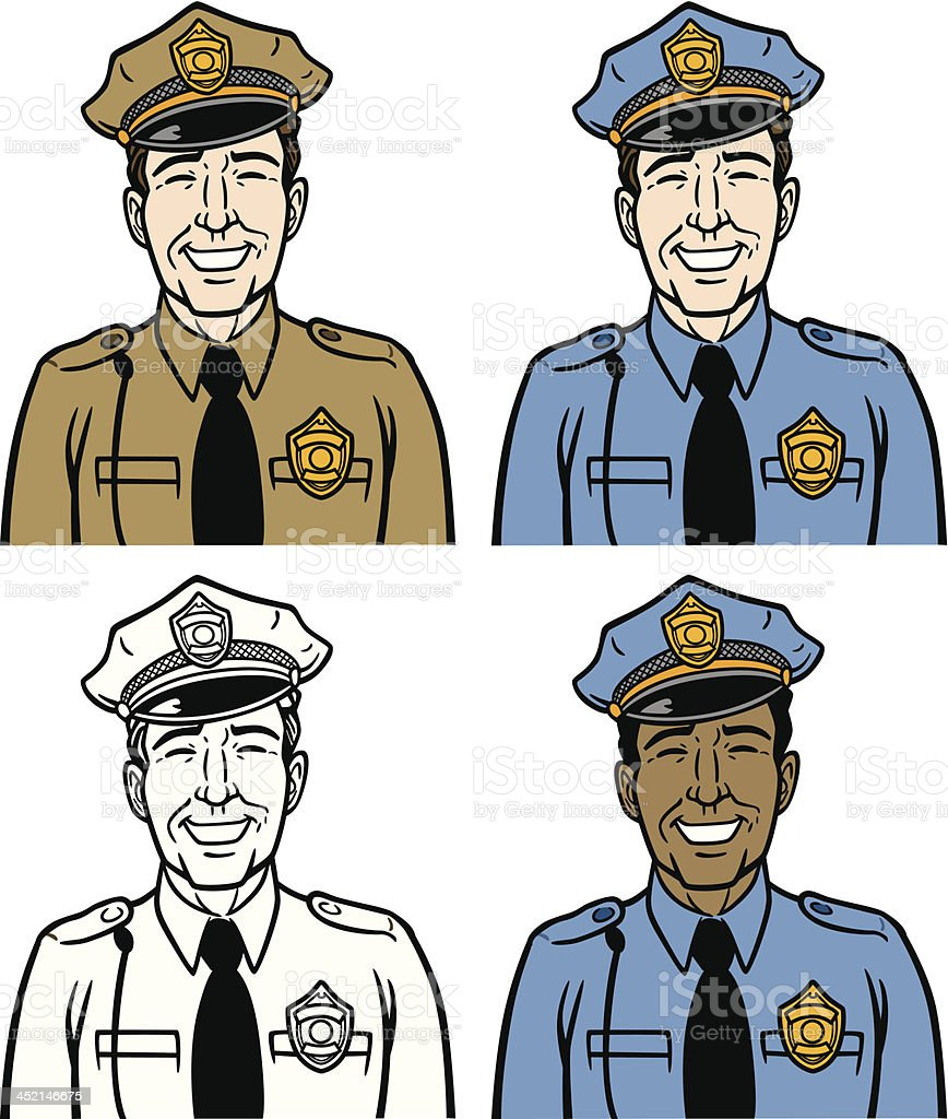 Cops vector art illustration