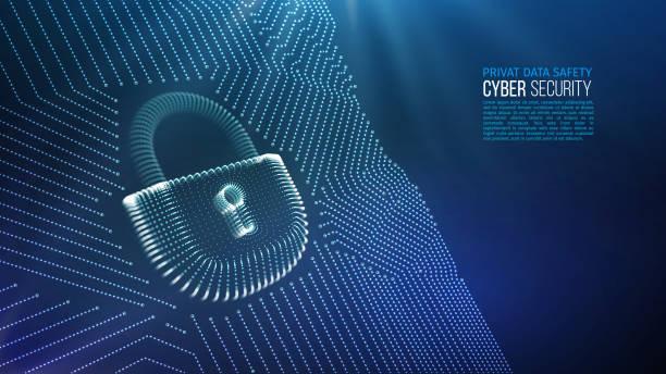 Coputer internet cyber security background. Cyber crime vector illustration. digital lock Coputer internet cyber security background. Cyber crime vector illustration. digital firewall stock illustrations