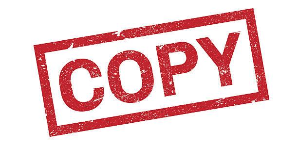copy rubber stamp - kopiować stock illustrations