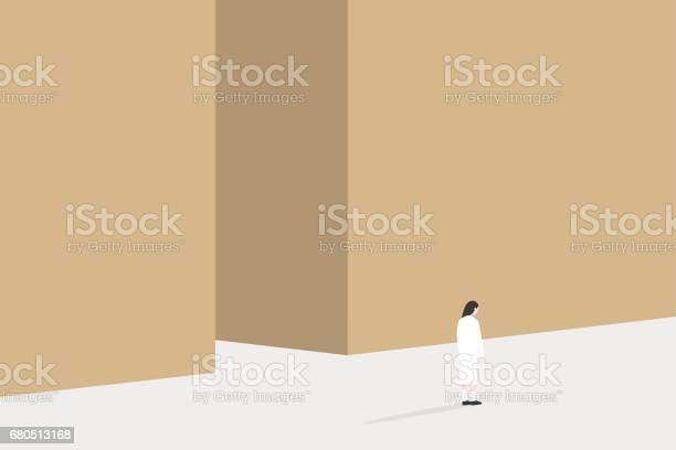 Copy space conceptual illustration back view of young woman standing vector id680513168?b=1&k=6&m=680513168&s=612x612&h=248hyezhf5ct68kmltlfixllnfrgjwohurgahcxah2e=