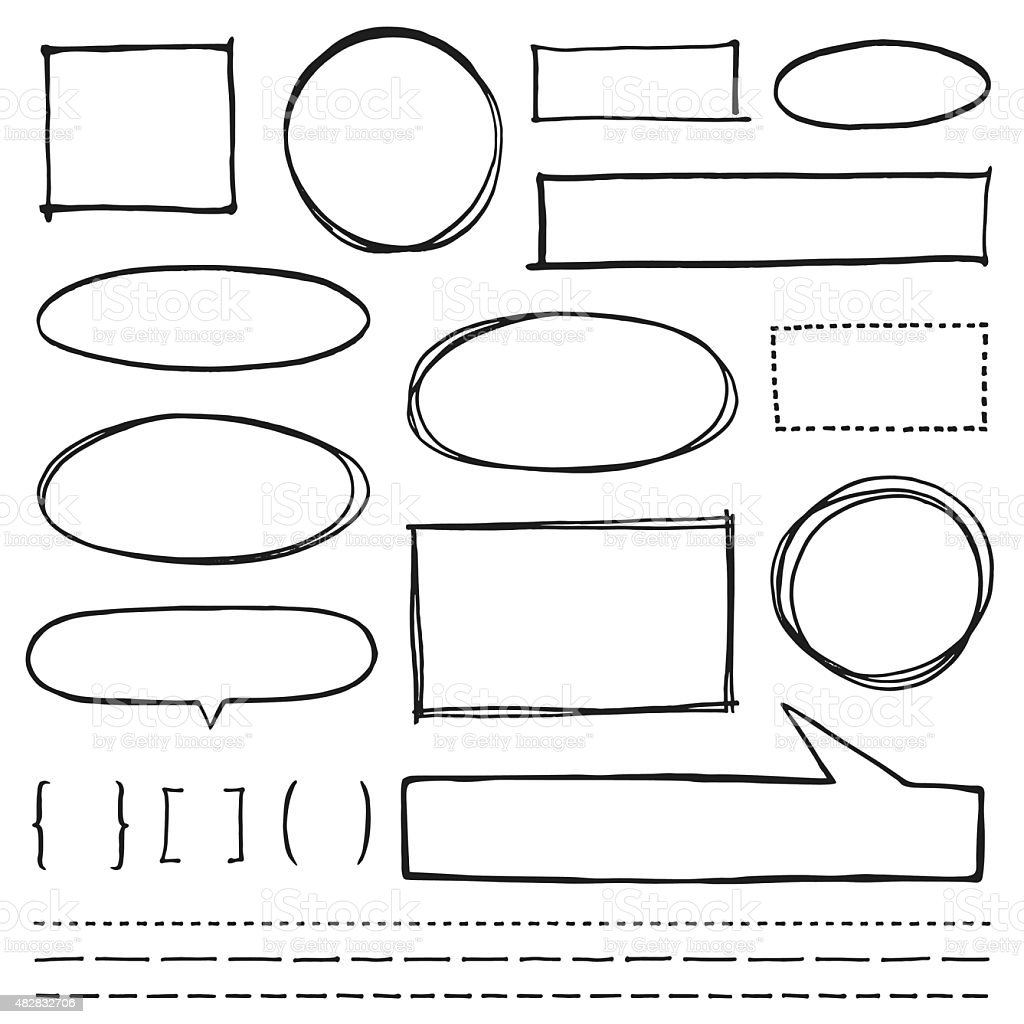 Copy Space Design Element Set vector art illustration