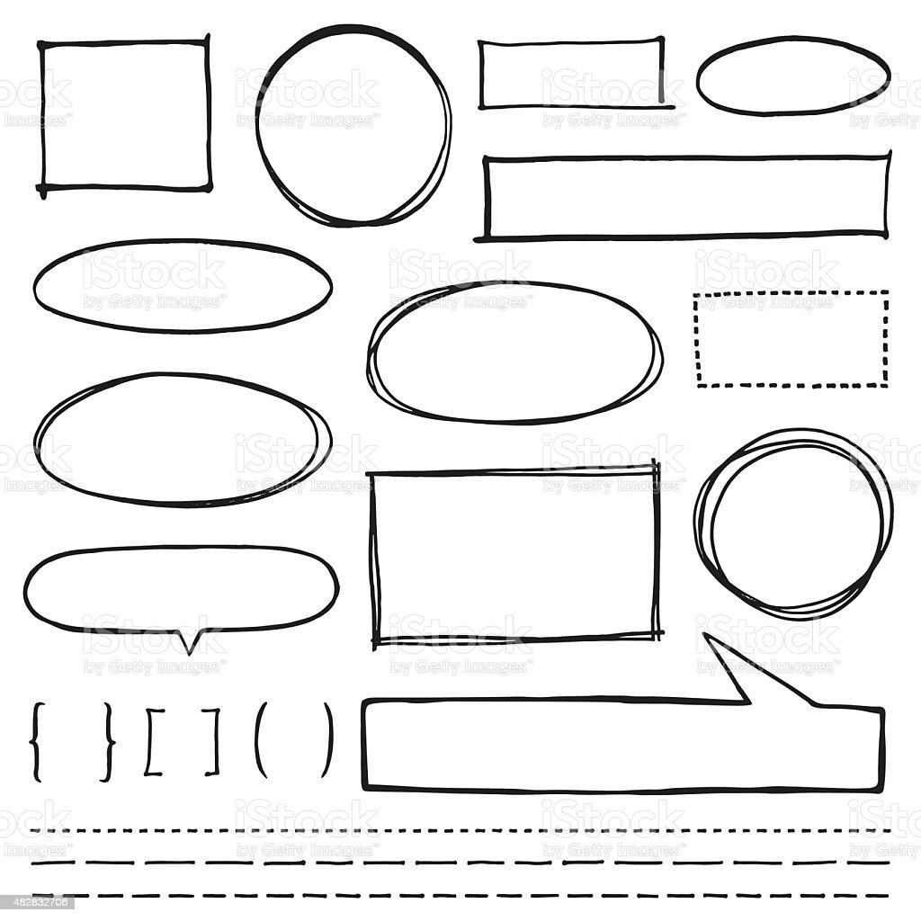 Textfreiraum Design-Elemente Set – Vektorgrafik