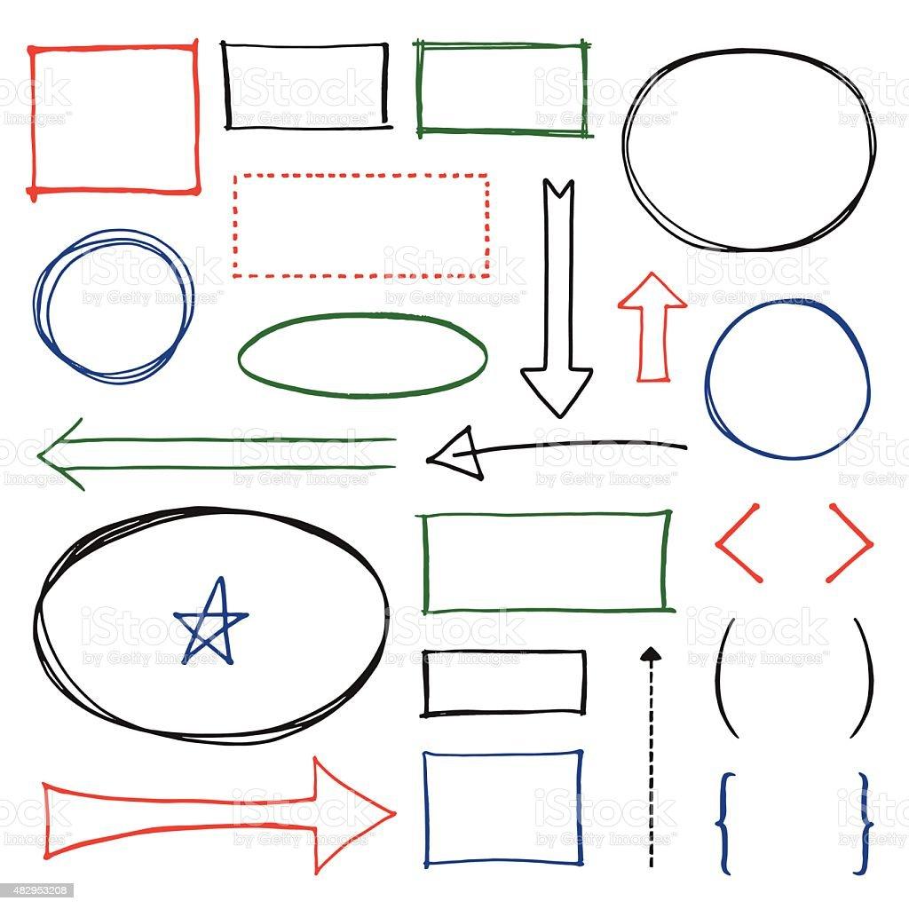 Copy Space Design Element Set vector art illustration