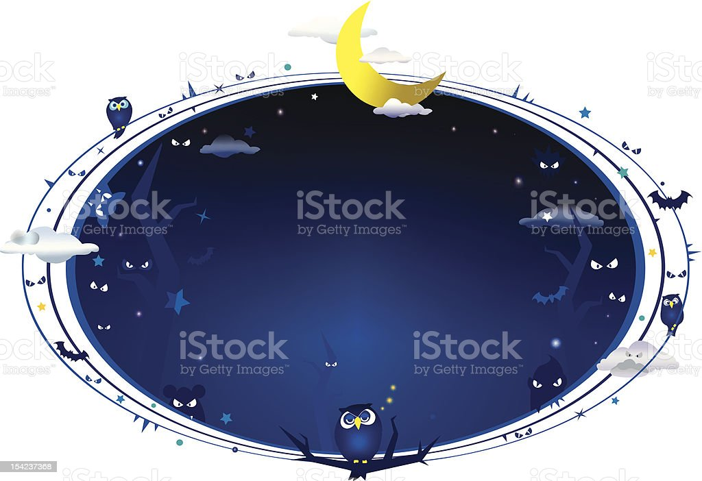Copy space full of darkness royalty-free stock vector art