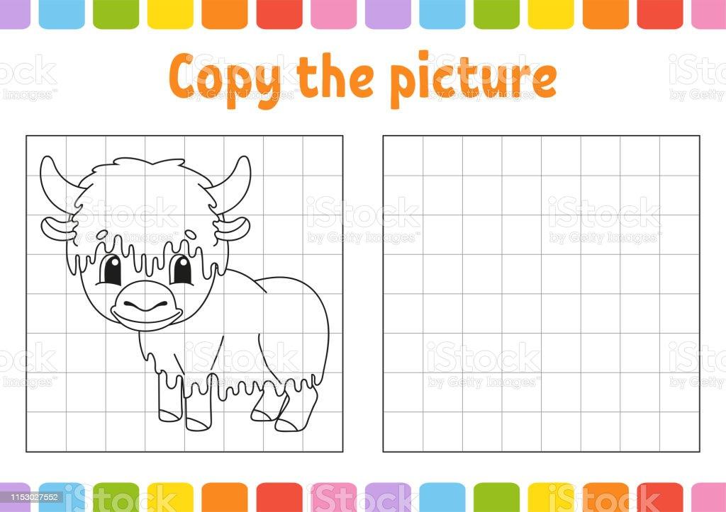 Ilustración De Copie La Imagen Páginas De Libros Para Colorear Para