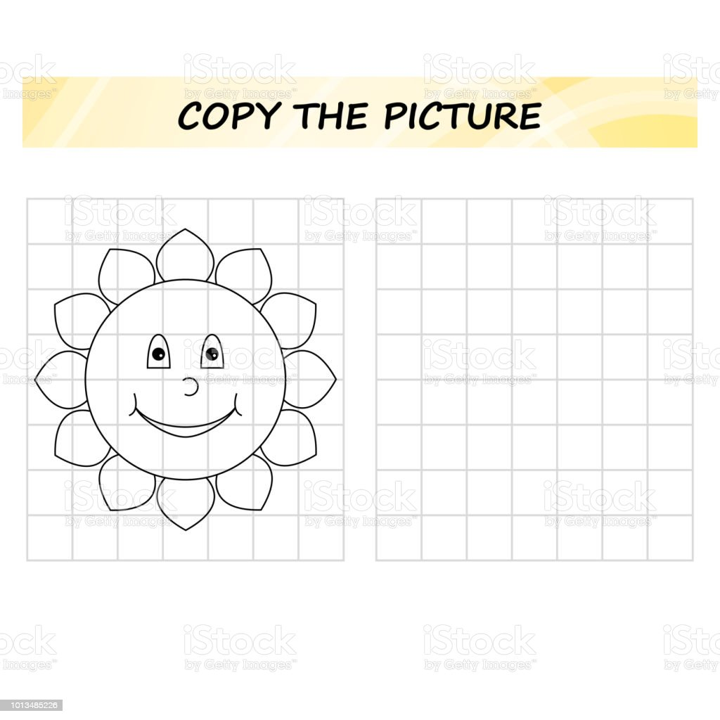 Copy The Picture Game For Children Worksheet For Preschool Kids ...