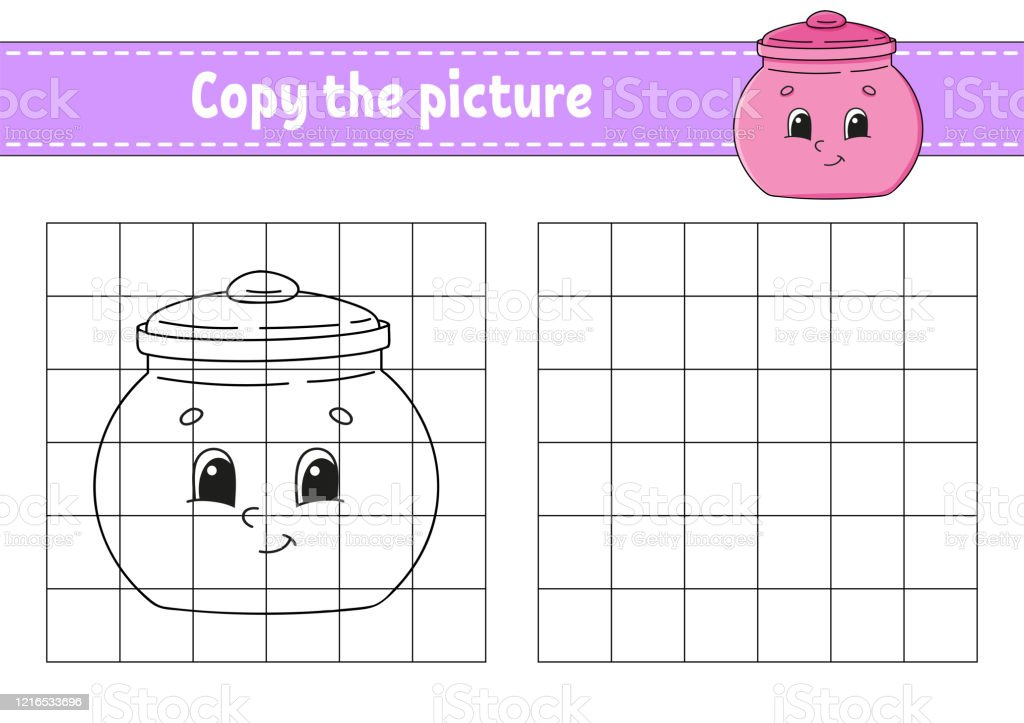 - Copy The Picture Sugar Bowl Coloring Book Pages For Kids Education  Developing Worksheet Game For Children Handwriting Practice Catoon  Character Stock Illustration - Download Image Now - IStock