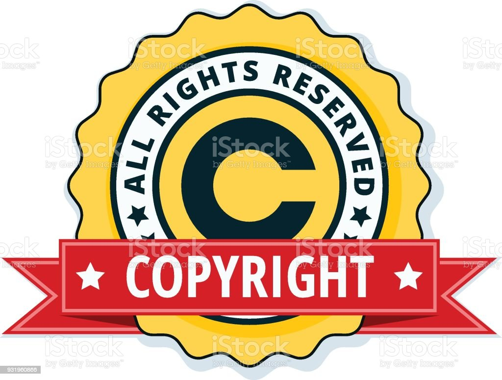 Copyright All Rights Reserved Illustration Stock Vector Art More
