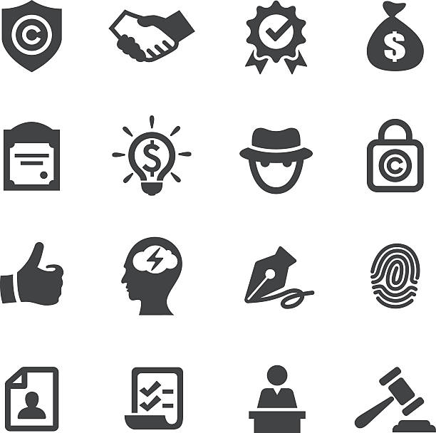 Copyright and Royalties Icons - Acme Series vector art illustration