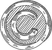 Copyright Symbol Drawing