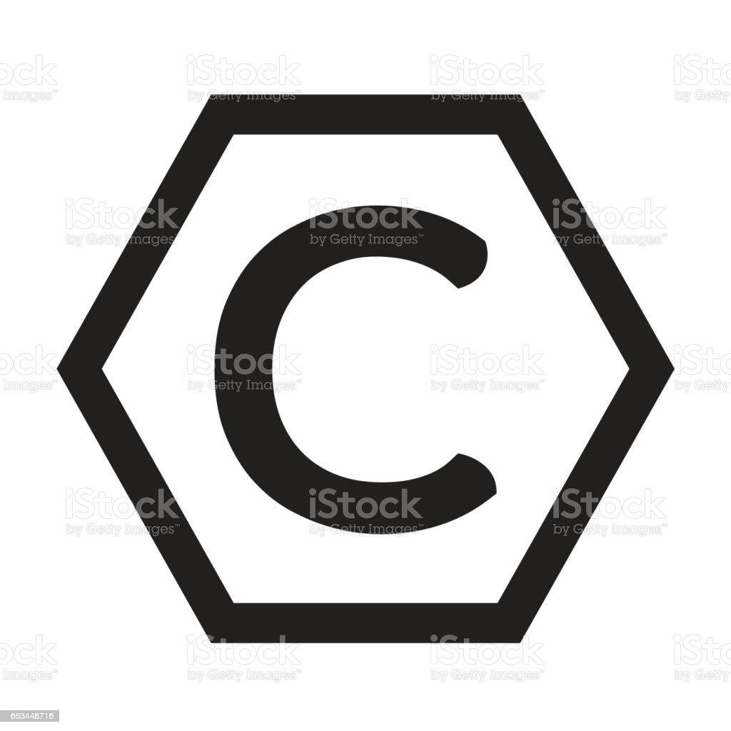 Copyright Symbol Icon Illustration Design Stock Vector Art More