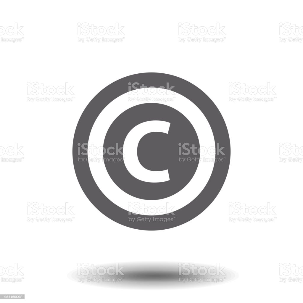 Copyright symbol isolated on white background. Vector illustration, EPS10. vector art illustration