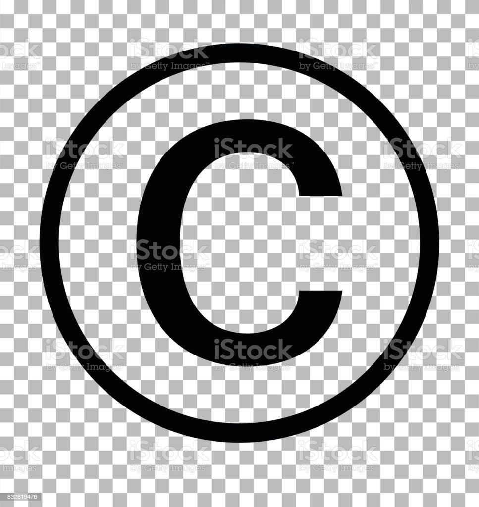 Copyright Symbol On Transparent Background Copyright Sign Copyright
