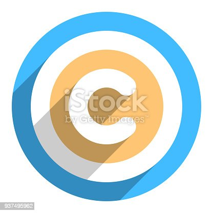 Copyright Symbol Or Copyright Sign In Flat Style Stock Vector Art