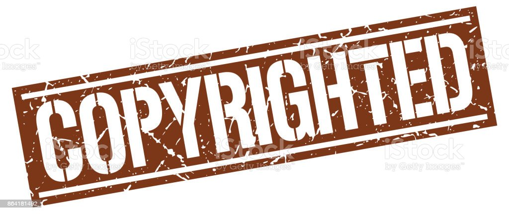 copyrighted square grunge stamp royalty-free copyrighted square grunge stamp stock vector art & more images of badge