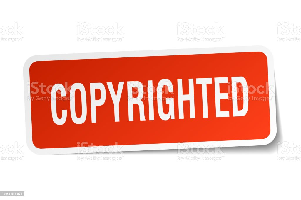 copyrighted square sticker on white royalty-free copyrighted square sticker on white stock vector art & more images of badge