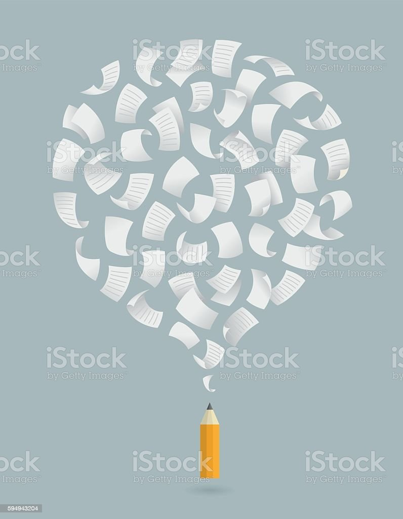 Copywriting, creative, thinking, idea, concept illustration vector art illustration