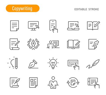 Copywriting Icons (Editable Stroke)