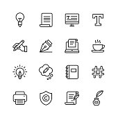 16 Copywriting Outline Icons.
