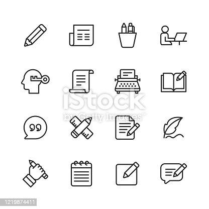 16 Copywriting Outline Icons.