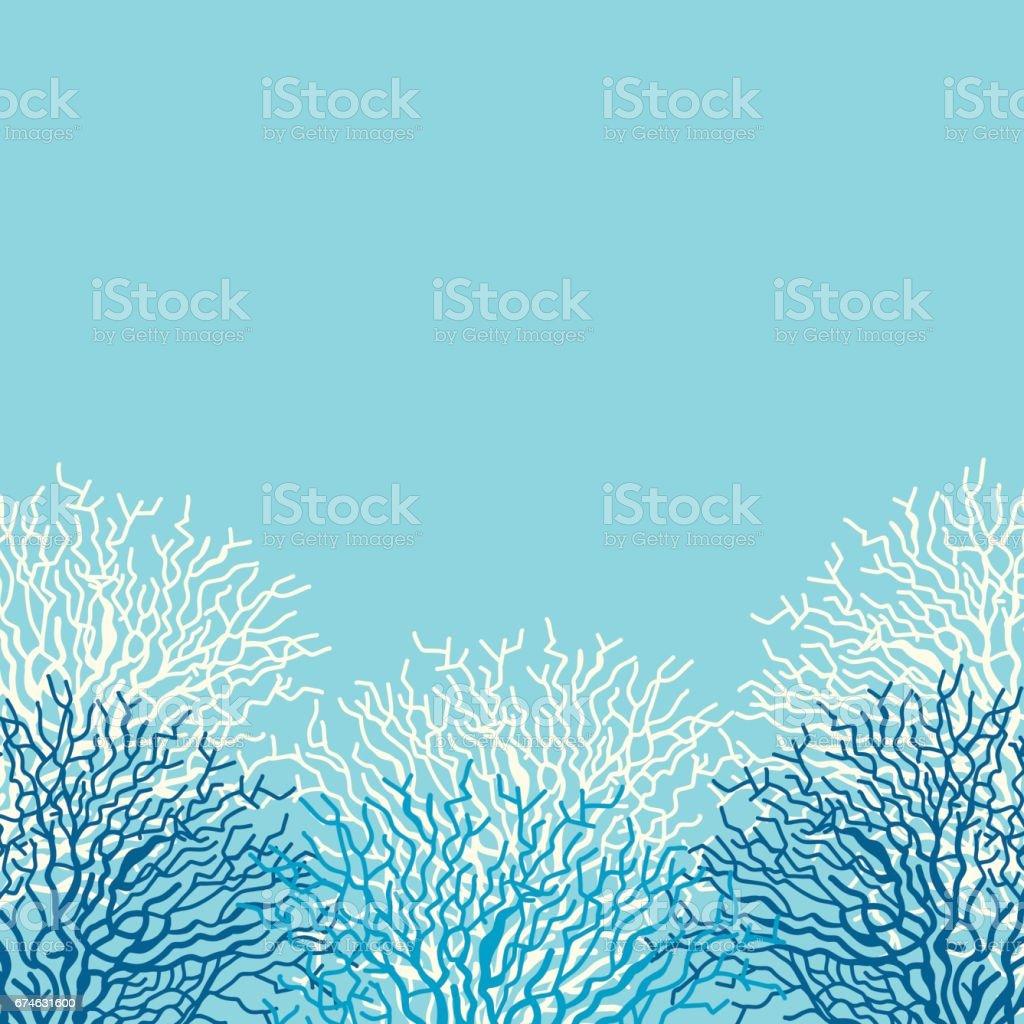 Coral marco - ilustración de arte vectorial