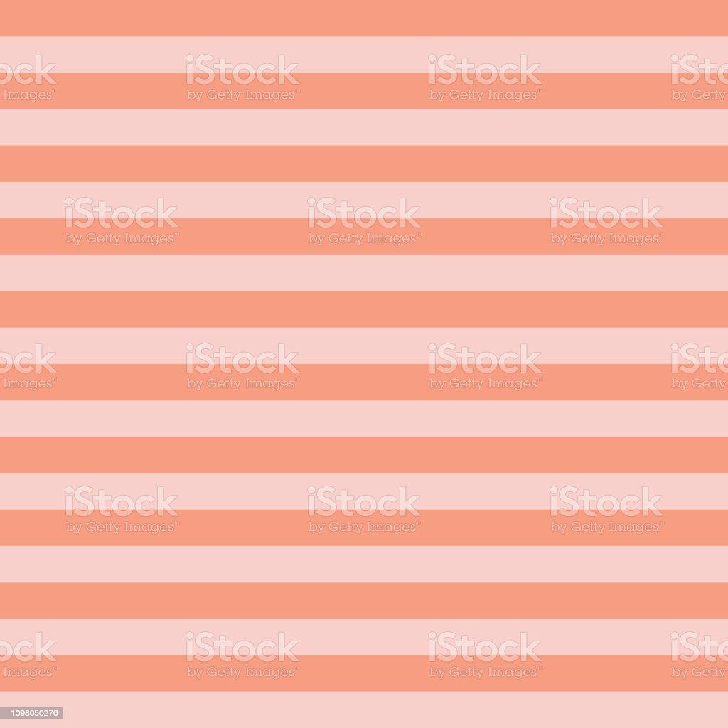 Coral orange and pink horizontal stripes seamless vector art illustration