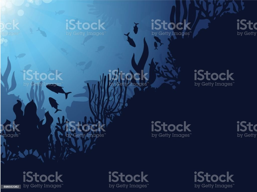 Coral Reef Background vector art illustration