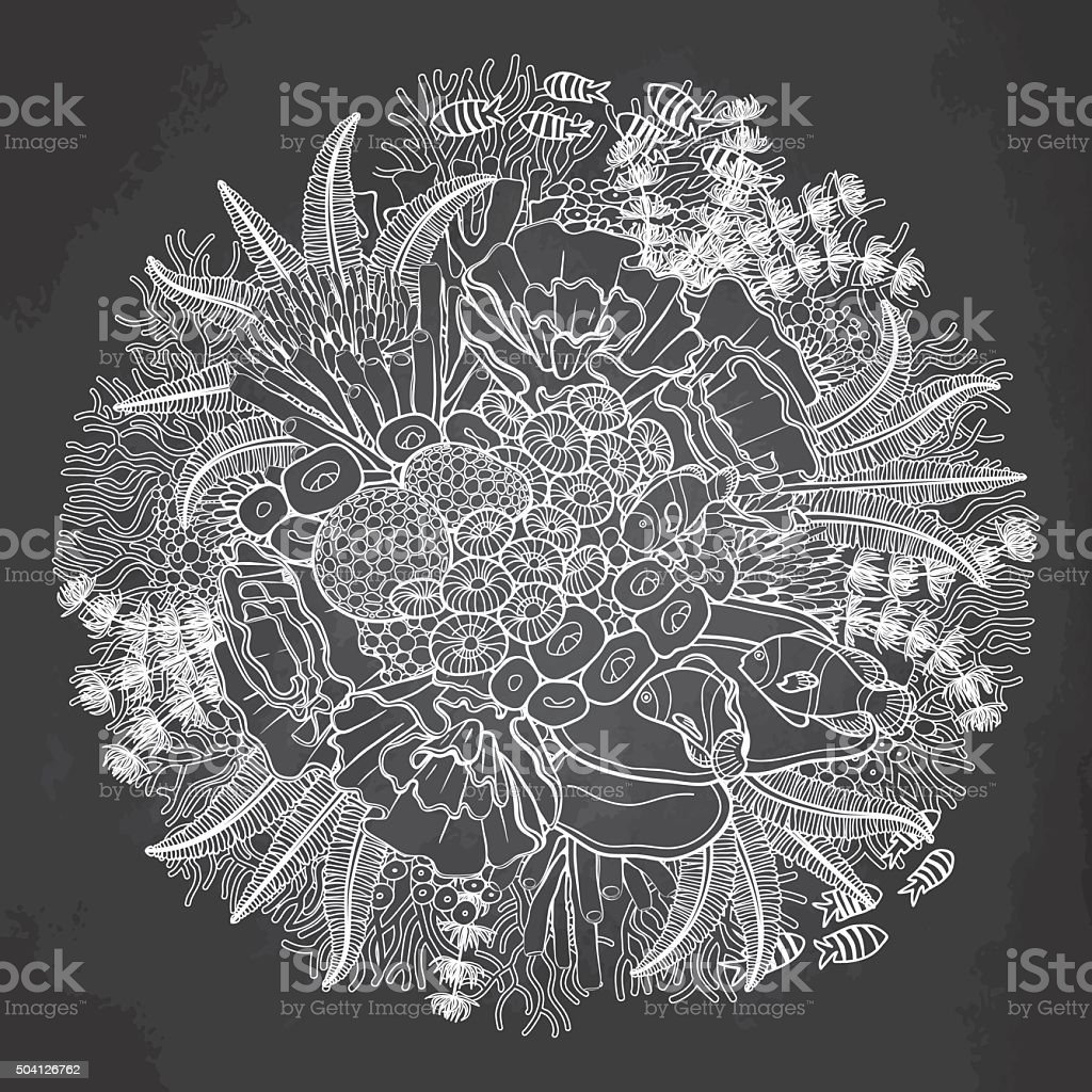 Coral Reef Design Stock Vector Art & More Images Of Animal