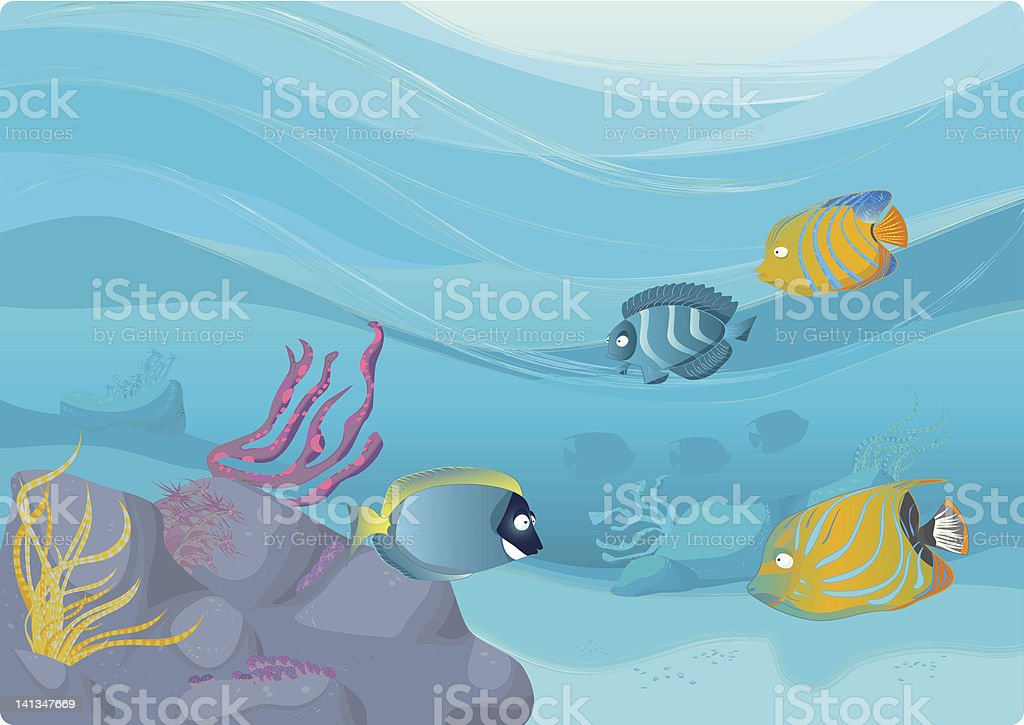 Coral reef vector illustration vector art illustration