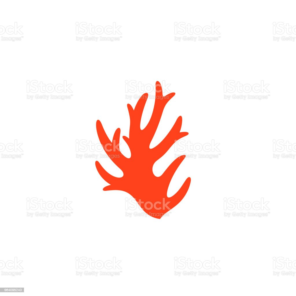 Coral. Vector illustration - Royalty-free Abstract stock vector