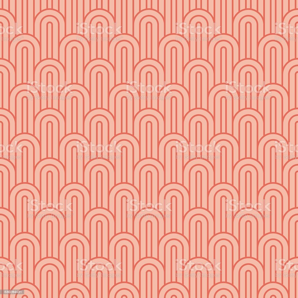 coralpink overlapping arcs vector art illustration
